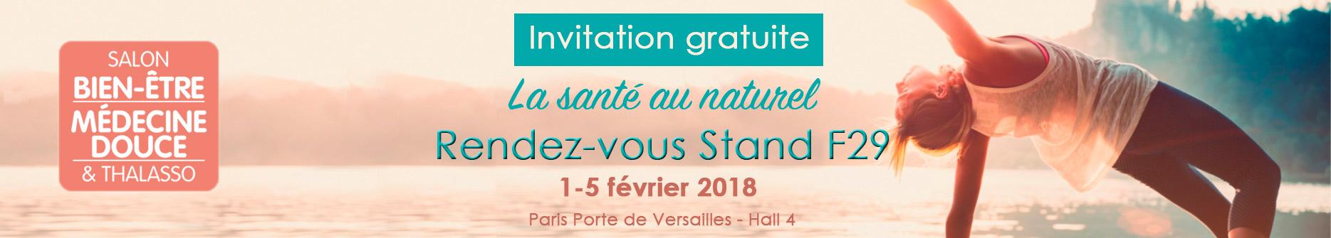 Invitation au salon bien-être - Dien Chan Institute - Réflexologie faciale - Stand F29